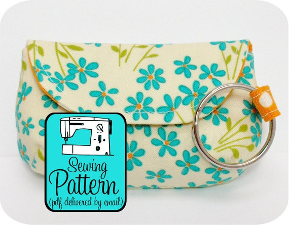 Keychain Clutch Sewing Pattern - PDF Pattern (Email Delivery)