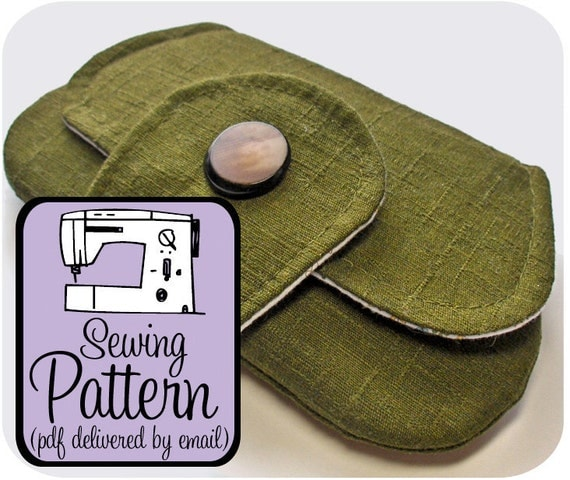 Pocket Clutch Sewing Pattern - PDF Pattern (Email Delivery) - Instructions to Make it Yourself