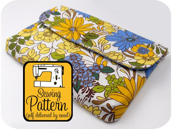 """13"""" Laptop Sleeve PDF Sewing Pattern - Delivered by Email"""