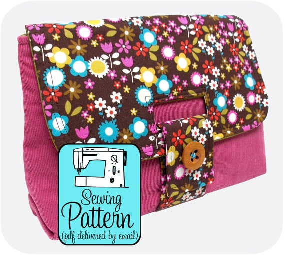 Sewing Pattern to Make a Strap Clutch - PDF Sewing Pattern (Instant Download)
