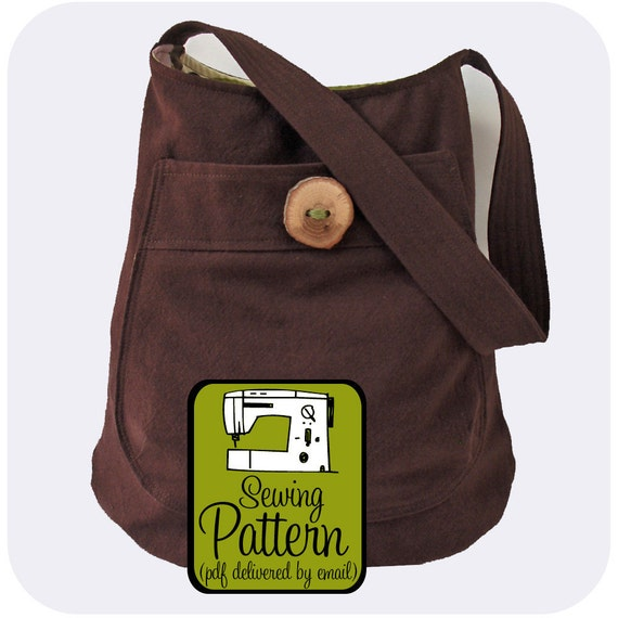Bucket Bag Sewing Pattern - PDF Pattern (Email Delivery) - Tutorial to Make the Bag Yourself