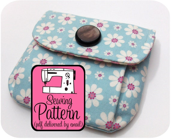 SALE Pleated Pouches Sewing Pattern - 3 Sizes - PDF Pattern (Email Delivery)