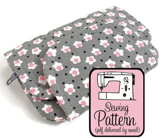 Zip Pocket Pouches Sewing Pattern - PDF (Email Delivery) - Instructions to Make the Wallets Yourself