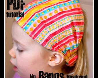 NO Bangs Headband - Instant Download - PDF Tutorial
