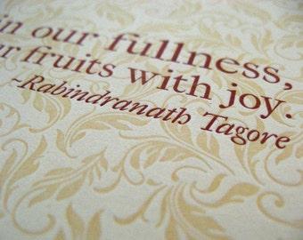 Thanksgiving letterpress greeting cards
