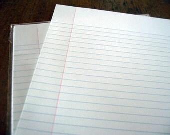 Letterpress note paper (set of 10 sheets)