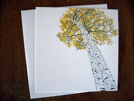 5-pack Aspen letterpress notecards
