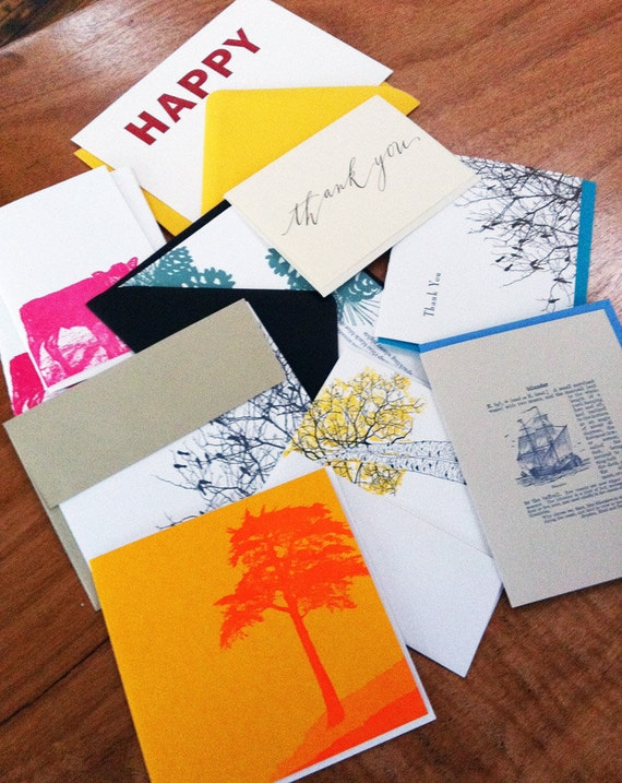 10-pack letterpress greeting card seconds and misprints