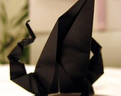 Origami Black Winged Dragon (customizable colour)