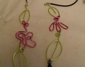 Spec.tickles Eyeglasses chain Pink and Green, Leaves and flowers W2