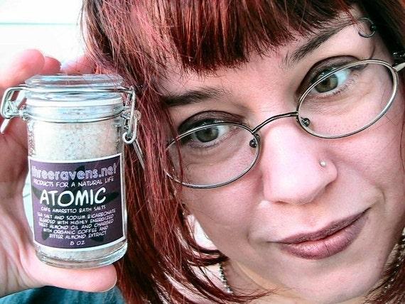Atomic Bath Salts Trial Size - cafe amaretto style organic bathing energy - no synthetics