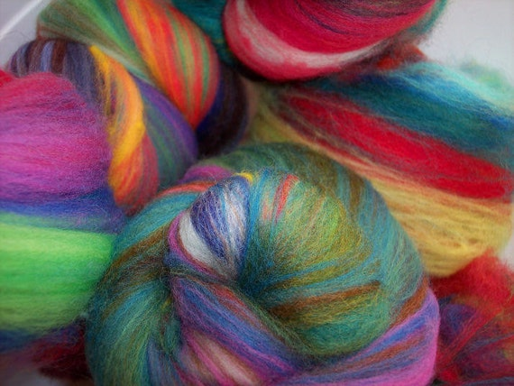 Box of Crayons Baby Batts for spinning/felting/fiber arts - 2.1oz