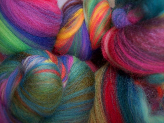 Box of Crayons Baby Batts for spinning/felting/fiber arts - 2 oz