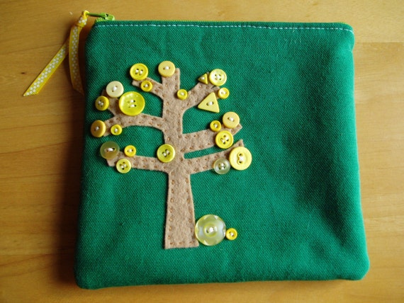 Yellow Leaf Tree Pouch