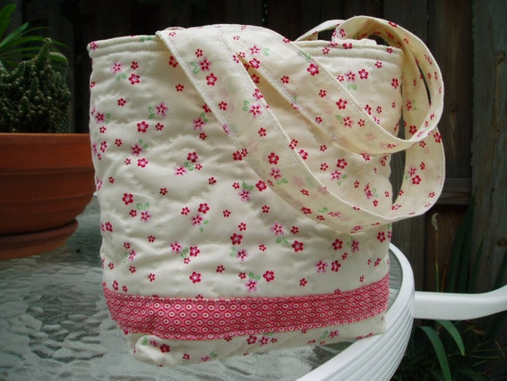 Quilted Teeny Flower Bag
