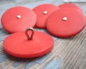 Red-orange Vintage Buttons - 5