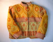Size 4-5 Girls Chenille Tapestry  Jacket