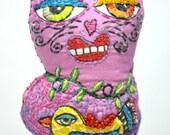 Peace Kitty Beaded Doll