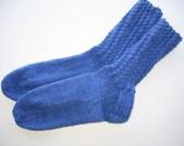 Handknit Socks - April sky