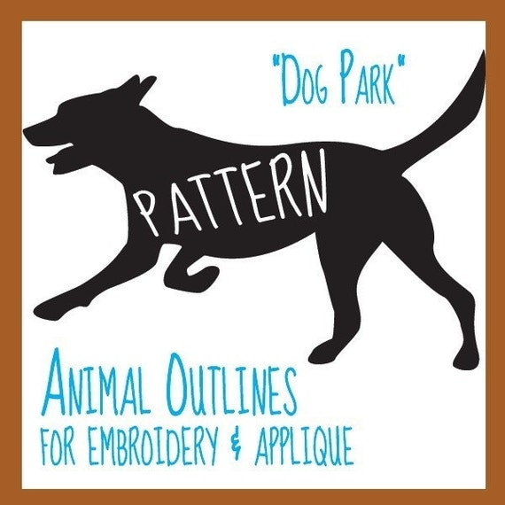 Animal Outlines Patterns - Dog Park