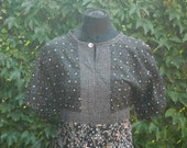 One of A Kind Black Flowers Butterflies Tunic Top