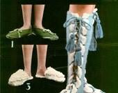Slippers to Knit and Crochet Funky Retro Pattern