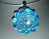 Blue wave implosion pendant