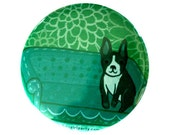 BOSTON TERRIER pocket mirror by boygirlparty, boston terrier illustration, boston terrier art, boston terrier gifts mirror