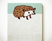 HEDGEHOG NOTE PAD by boygirlparty, cute woodland animal hedgehog notepad memo pad blue - kawaii stationery