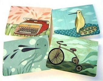 Blank NOTE CARDS illustrated by boygirlparty, blank notecards / greeting cards - artwork by Susie Ghahremani