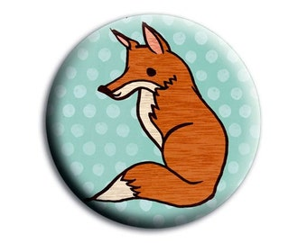 FOX birthday party favors, travel mirror travel accessories, fox mirror, sweet 16 favors sweet sixteen favors, party favors for teens