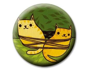 CAT'S CRADLE pocket mirror by boygirlparty, animal mirror cat kitty yarn tangle compact mirror