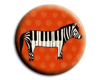 Gift for Her - Purse Accessories - Red Zebra Pocket Mirror - Valentines Day Gift Ideas for Her