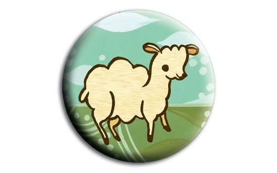 farm gifts - sheep art pocket mirror - lamb art purse mirror - LAMB baby shower favor sheep baby shower favor - farm animal art