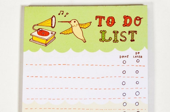 Notepad To Do List, Productivity Planner, Organizing Companion, Day Planner Notepad, To Do List Notepad To-Do List Stationery
