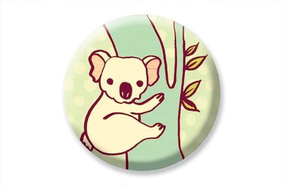 Cute Gifts - KOALA BEAR hand mirror - koala mirror - cute animals pocket mirror koala bear cute animal gifts