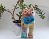 Summoner of Spring Monster Crocheted Soft Sculpture OOAK Collectible Art Doll