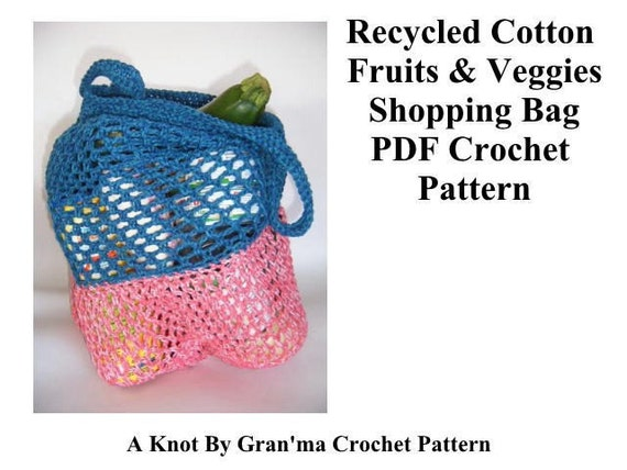 PDF Crochet Pattern Recycled Cotton Fruits and Veggies