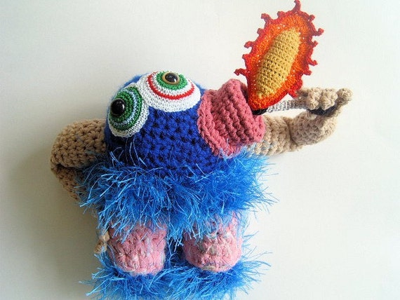 Fredrickson the Fire Eater: Definitely My Next Monster Doll | Knot By Gran'ma Blog