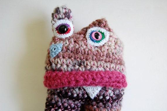 HALLOWEEN SALE Remember to Love Monster .8 OOAK Crochet Art Doll