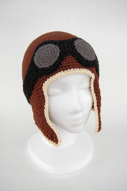 crochet aviator hat by knot by gran'ma