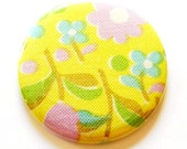 Colorful Flower Burst - Fabric Covered 2.25 inch (5.7 cm) Pocket Mirror
