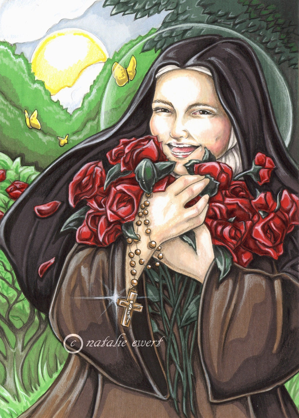 St Therese Rose