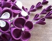 Royal Purple Kanzashi (RESERVED)