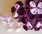 Purple Kanzashi Hair Ornament