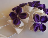 Plum and Eggshell Kanzashi (Reserved for Rossee01)