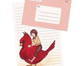 Cardinal Ride Fold Up Stationery