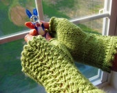 Knitting Pattern (PDF) - Lettuce Mitts - Fingerless Gloves
