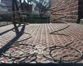 5 Rusty Bed Springs for Country, Prim Or Rustic Make Do Nodders