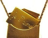 Gold French Love Letter Necklace
